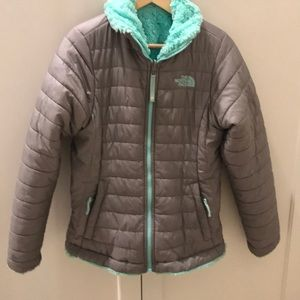 Reversible North Face girls jacket